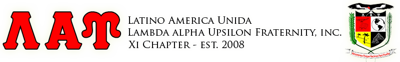 Xi Chapter of Latino America Unida Lambda Alpha Upsilon Fraternity, Inc.
